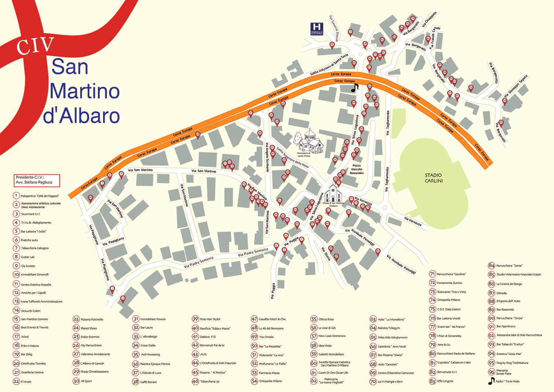 Mappa Civ San Martino d'Albaro